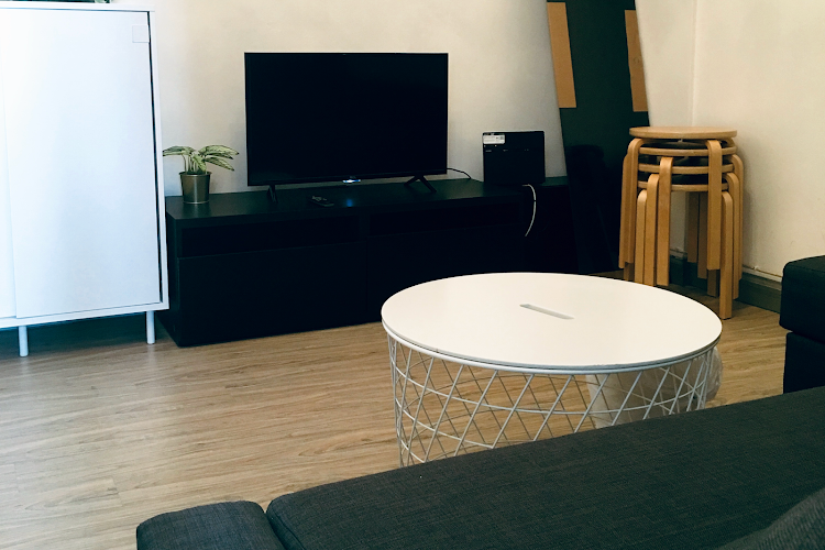 Living room at Causeway Bay apartment
