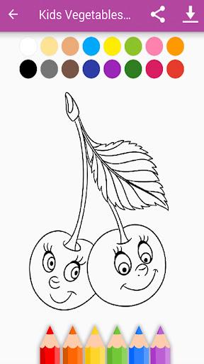 Kids Vegetables & Fruits Coloring Book 1.11.1 screenshots 6