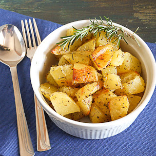 Roasted Potatoes With Rosemary.