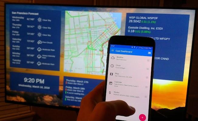 Cast Dashboard - screenshot