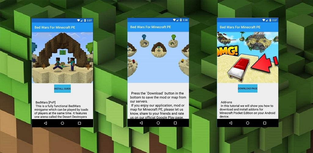 Download Bed Wars For Minecraft PE by Mods and Maps for Funs