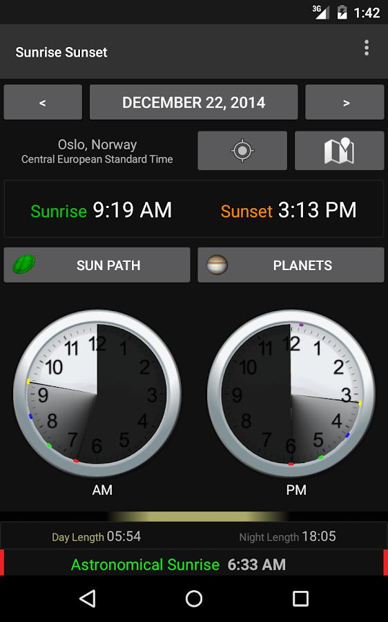 Sunrise Sunset - screenshot