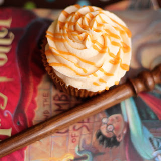 Butterbeer Cupcakes and Butterscotch Ganache