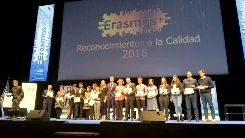 Entrega del Premio de Calidad Erasmus a la UAL.