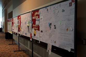 Photo: The message board is filled up