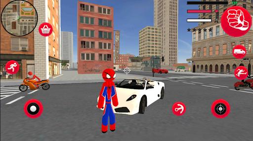 Frog-Spider StickMan Rope Hero Gangster Vegas  screenshots 2