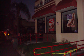 Photo: Strange to see fast food joints closed and without power in the early evening. (Ok, for us spoiled Californians, sure)