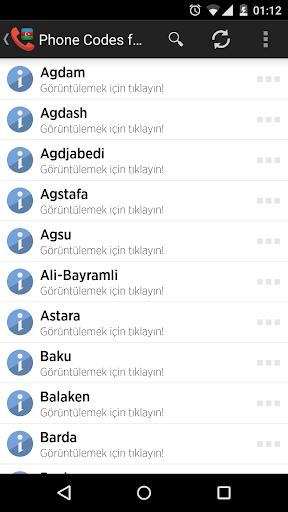 Phone Codes for Azerbaijan
