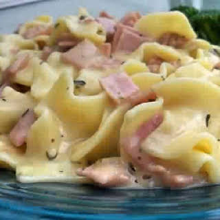 Ham And Noodle Casserole.