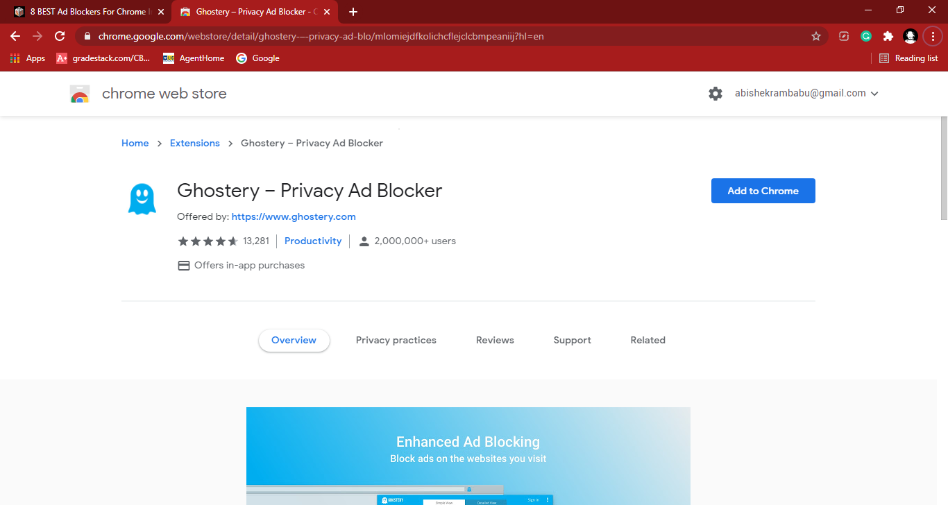 Ghostery Chrome Store - Best Free Ad Blocker Software