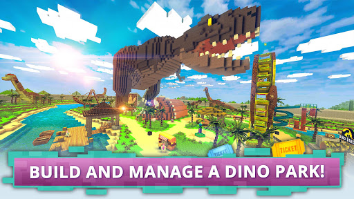 Dino Theme Park Craft: Ride Dinosaur Rollercoaster screenshots 1