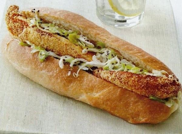 Fish Sandwiches With Jalapeno Slaw Recipe