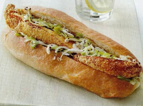 Fish Sandwiches With Jalapeno Slaw Recipe