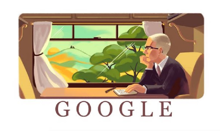 Google Doodle celebrates Alan Paton's 115th birthday.