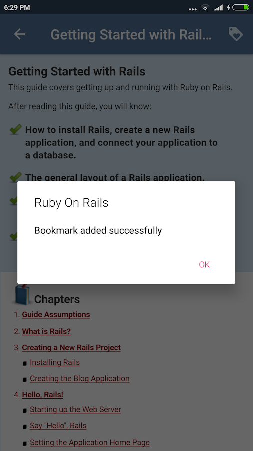 Ruby On Rails Docs- screenshot