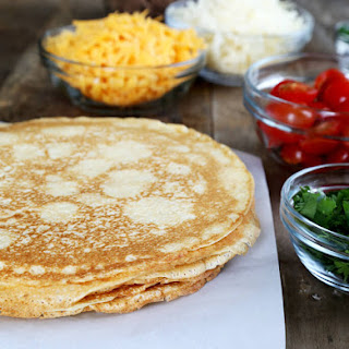 Gluten Free Cornmeal Crêpes, with taco fillings