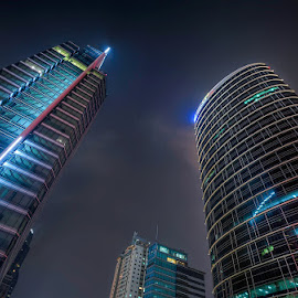 3 Generals by Miko Adji - Buildings & Architecture Office Buildings & Hotels ( outdoor photography, colorful, buildings, jakarta, architecture, nightscapes, nightlife,  )