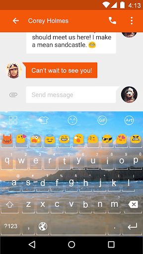 Sea -Love Emoji Keyboard