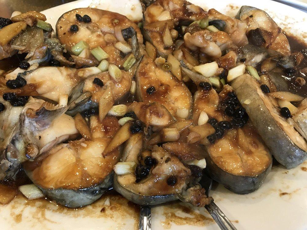 Photo of New Gold Medal Restaurant - Oakland, CA, United States. Steamed cat fish with black bean sauce. Really good!