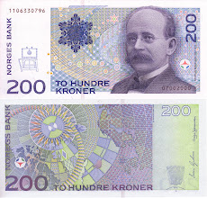 Photo: Kristian Birkeland, 200 Norwegian Kroner (1994). This note is still legal currency.
