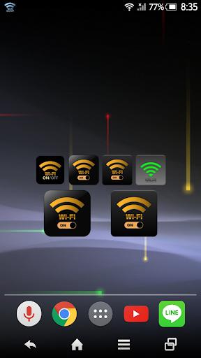WiFi ON OFF ウィジェット HD