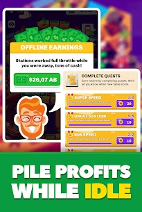 Idle Train Station Tycoon : Money Clicker Inc Mod Apk Download For Android and Iphone 6