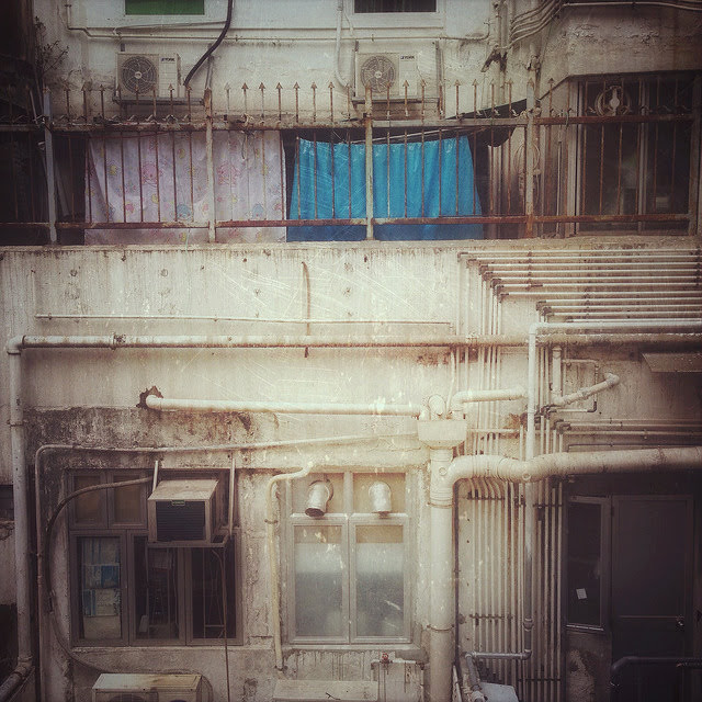 Back, View, Hong Kong, Residential, Building,  香港, 住宅樓, 背面