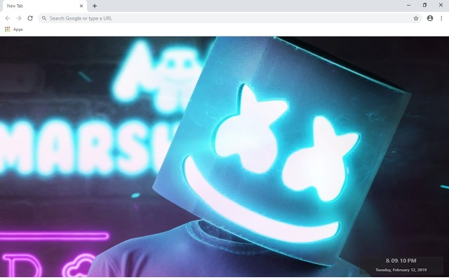 Marshmello New Tab & Wallpapers Collection