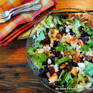 Chopped Greens and Fruit Salad