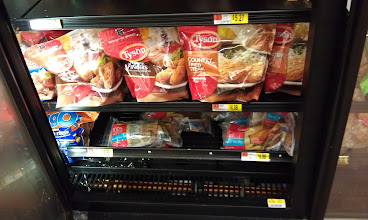 Photo: Thought they might be in the refrigerated chicken section...nope.