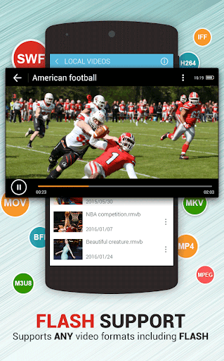 Dolphin Video - Flash Player For Android 1.3 screenshots 1
