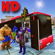Superhero Passenger Bus Driving Simulation Game