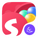 Round Colorful Ball Box --APUS Launcher theme icon