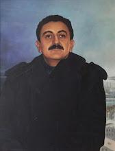 Photo: Retrato de Paulo Linhares.  Bruno Steinbach, óleo/tela, 100 x 80 cm. Mossoró-RN, 1998.