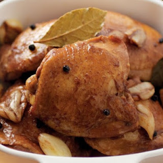 Classic Chicken Adobo from 'The Adobo Road Cookbook'.