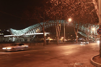 Photo: Tbilisio Taikos tiltas.  Tbilisi Bridge of Peace.
