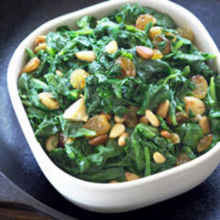 Spinach with Raisins and Pine Nuts Recipe