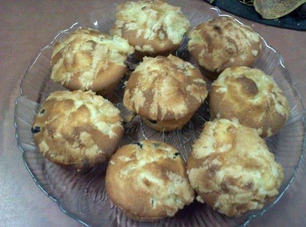 Blueberry Muffins With Streusal Topping Recipe