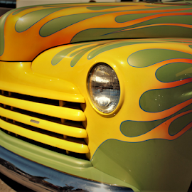 I'm on fire baby by Benito Flores Jr - Transportation Automobiles ( fire, texas, car show )