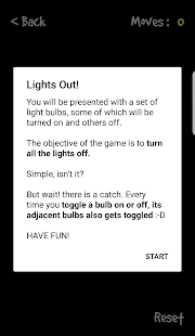 Lights Out : Puzzle game screenshot
