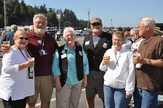 Photo: a group enjoying Mike's keg party