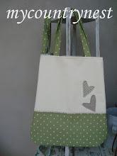 Photo: shopper pois con cuori