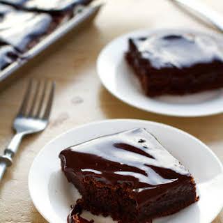 Fudgy Chocolate Cake Bars.