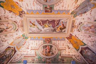"""Photo: Ceiling in the Room of Nobility or """"Sala della Nobiltà"""" in Villa d'Este in Tivoli, Lazio, Italy"""