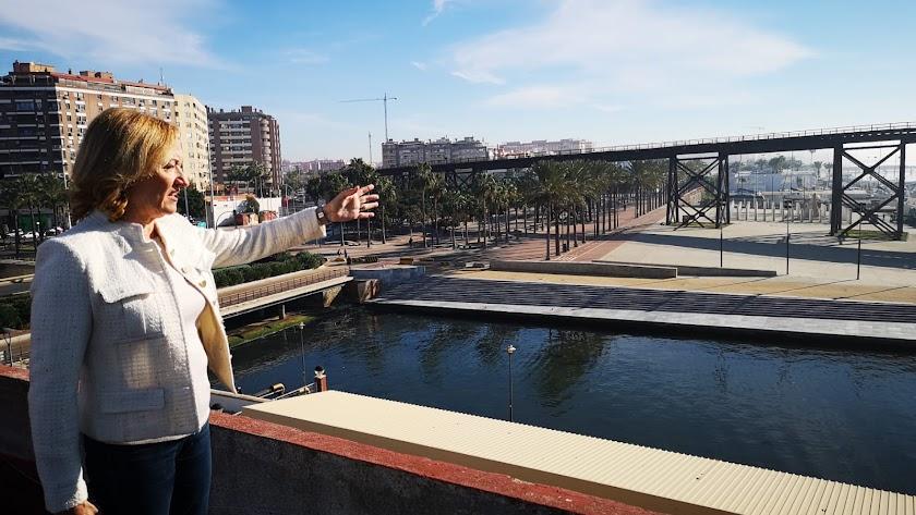 Mari Carmen Ortiz, presidenta de la Autoridad Portuaria.
