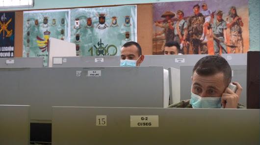 La Legión roza los 2.000 contactos en el rastreo militar del virus en Almería