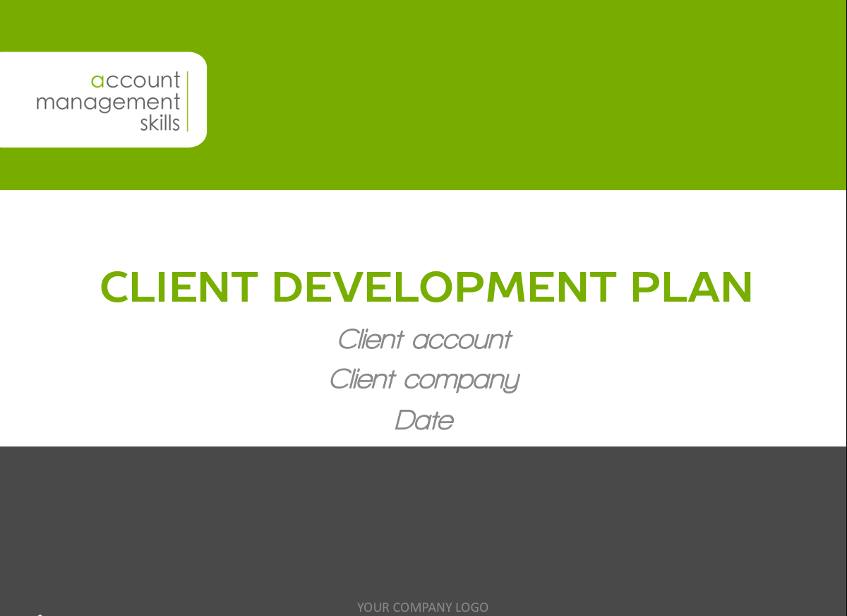 Client development plan template for Client management plan template