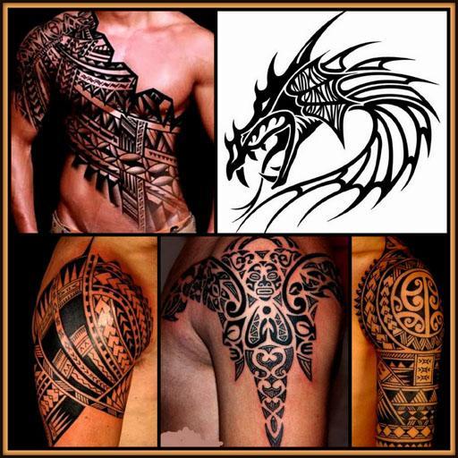 Tattoos Designs 3d Tribal Dragons 4 Men Girls Body Aplikasi Di