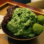 Matcha-Sweet Red Bean Shaved Ice