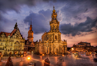 Photo: Dresden After the Bombing, Way After the Bombing  After the carpet bombing from the American and the British in 1945, the city of Dresden was left in ruins.  in the past 60 years, the city has been meticulously rebuilt to its former glory.  from the blog at www.stuckincustoms.com